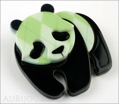 Erstwilder Pin Brooch Pepe the Pondering Panda Side