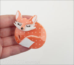 Erstwilder Pin Brooch Sacha Sleeping Fox Model