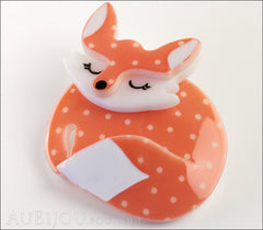 Erstwilder Pin Brooch Sacha Sleeping Fox Side