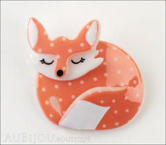 Erstwilder Pin Brooch Sacha Sleeping Fox Front