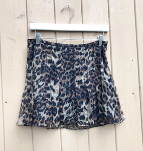 HOLT RENFREW Leopard Print Silk Mini Skirt