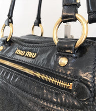 Load image into Gallery viewer, MIU MIU Distressed Leather Shoulder Bag