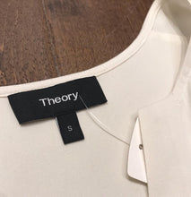 Load image into Gallery viewer, THEORY Cream Silk Top