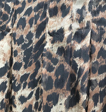 Load image into Gallery viewer, HOLT RENFREW Leopard Print Silk Mini Skirt