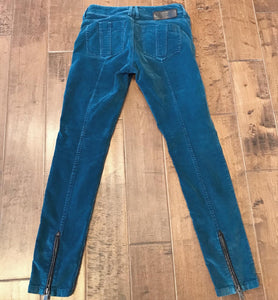 BURBERRY Corduroy Pants with Zipper Details