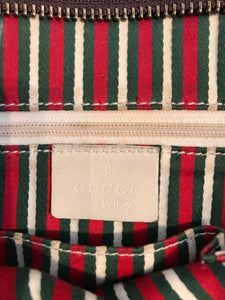 GUCCI GG Canvas Leather Crossbody Bag