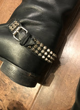 Load image into Gallery viewer, CHRISTIAN LOUBOUTIN Egoutina Leather Spiked-Toe Knee-High Riding Boots