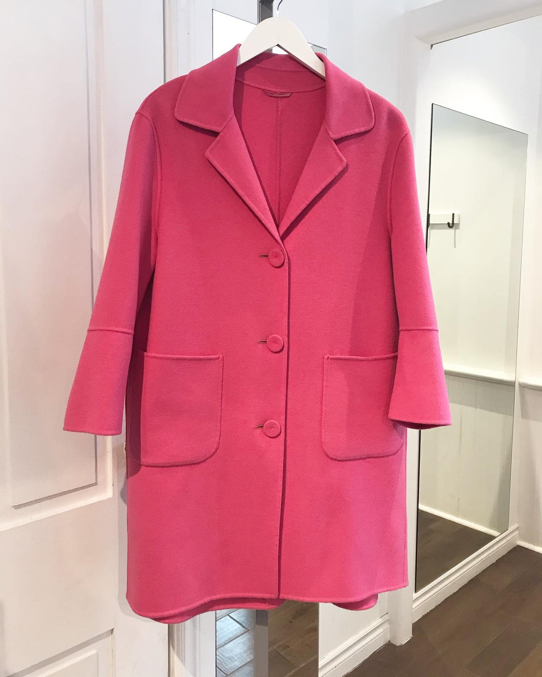 LUISA CERANO Double Face Wool Blend Coat