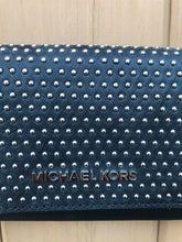 Load image into Gallery viewer, MICHAEL MICHAEL KORS Studded Leather Wallet On Chain