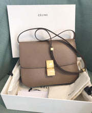 Load image into Gallery viewer, CELINE Classic Liege Taupe Calfskin Medium Box Bag