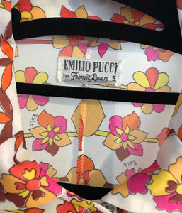EMILIO PUCCI Vintage for Formfit Rogers Floral Print Blouse Dress