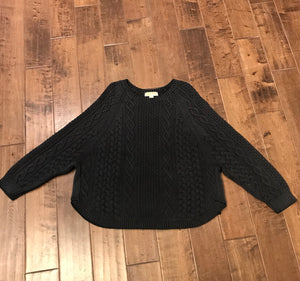 MICHAEL MICHAEL KORS Distressed Cotton Cable Knit Sweater