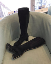 Load image into Gallery viewer, LOUIS VUITTON Masterclass Black Suede High Boots