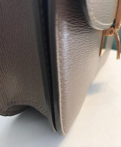 CELINE Classic Liege Taupe Calfskin Medium Box Bag