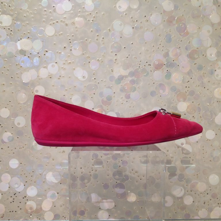 LOUIS VUITTON Hot Pink Suede Pointy Flats