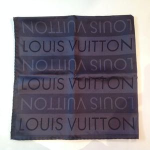 LOUIS VUITTON Logo Silk scarf