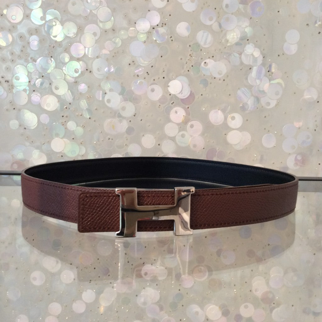 HERMÈS Reversible Leather Belt