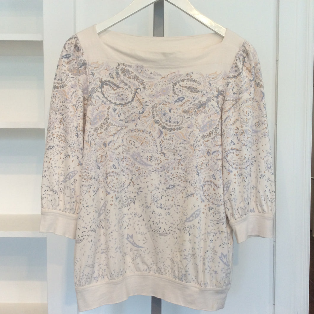 MARC BY MARC JACOBS Beige Print Top