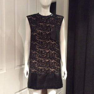 PHILLIP LIM Leather and Lace Combo Dress