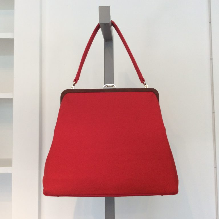 MACHIKO JINTO Red Cloth Handle Bag
