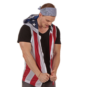 SpiritCape American Flag Hoodie Wearable Flag