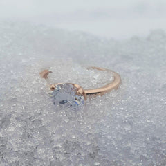 When using snow for jewelry photography background beware of sinking!