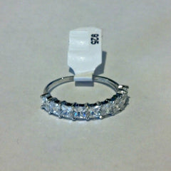 Sterling Silver CZ Princess Cut Wedding Band Ring size 4-10 by  Blades and Bling Sterling Silver Jewelry
