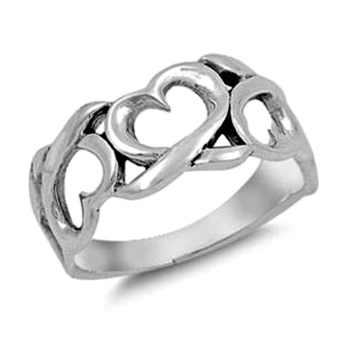 .925 Sterling Silver Infinity Heart Eternity Band Ladies ring size 5-10 by  Blades and Bling Sterling Silver Jewelry