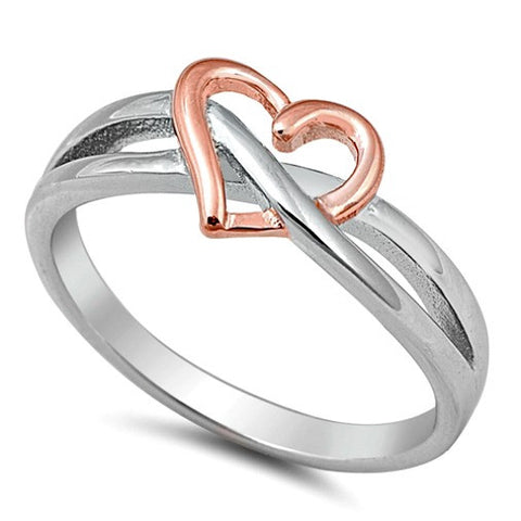 Sterling Silver and Stainless Steel Infinity Rings at Blades and