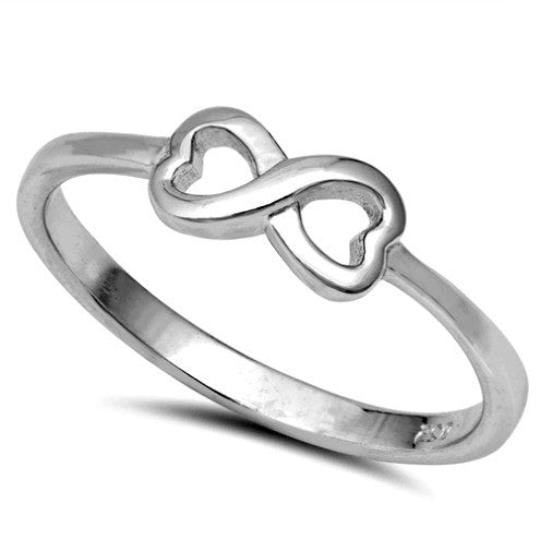 Womens and girls heart infinity ring