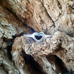 .925 Sterling Silver Heart Baby Kids and Ladies ring size 1-10