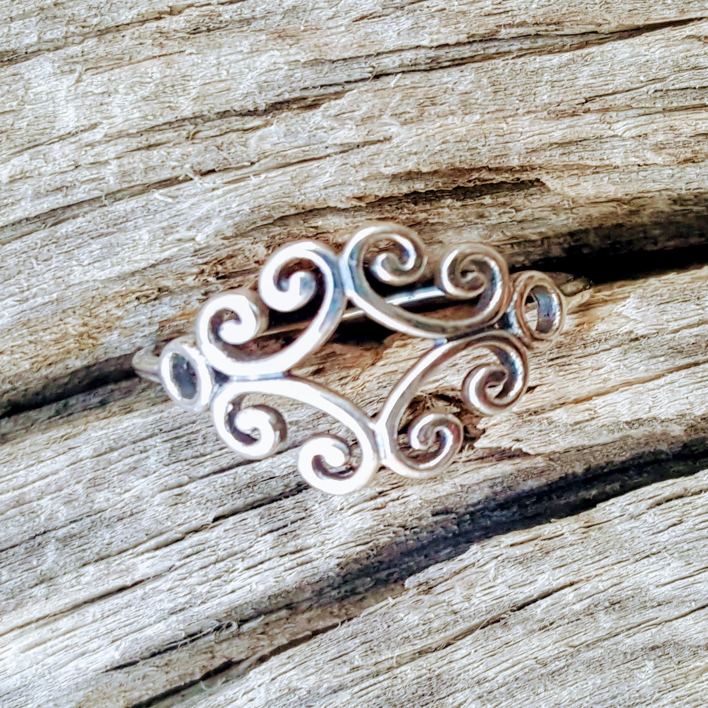 Ladies Celtic Triad Triquetra Infinity Ring Size 4-11 in .925 Sterling Silver