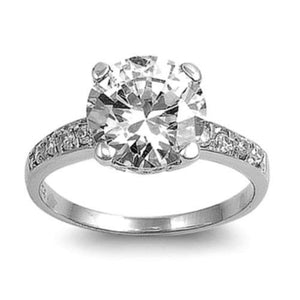 Sterling Silver CZ 2 carat Engagement Ring size 5-10 by  Blades and Bling Sterling Silver Jewelry