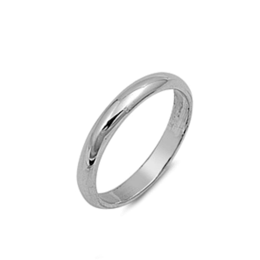 .925 Sterling Silver 3mm Plain Band Ring Size 2-13 by Blades and Bling Sterling Silver Jewelry