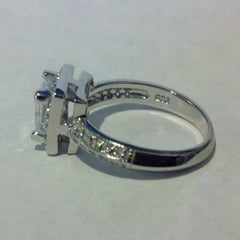 ment Ring Princess Cut size  4-11 - Blades and Bling Sterling Silver Jewelry