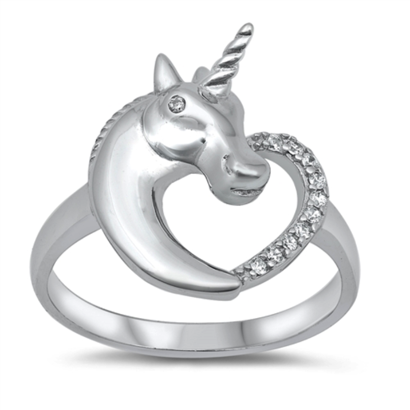 Heart Unicorn Ring for girls and ladies