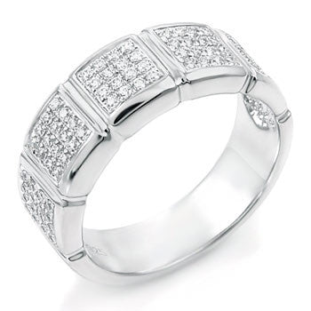 Sterling Silver Round Cut CZ Pave Set Wedding Band Size 5-8 by Blades and Bling Sterling Silver Jewelry