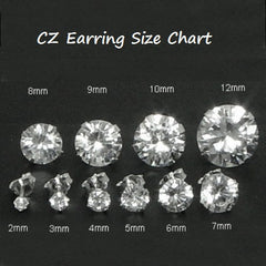 .925 Sterling Silver Brilliant Round Cut Red Garnet CZ Stud Earrings in 2mm-10mm by  Blades and Bling Sterling Silver Jewelry