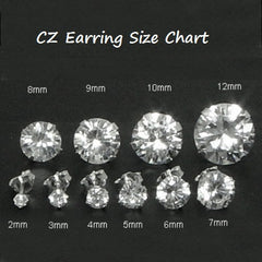 .925 Sterling Silver Brilliant Round Cut Pink Topaz CZ Stud Earrings in 2mm-10mm by  Blades and Bling Sterling Silver Jewelry