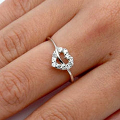 Sterling Silver Infinity Heart Round Cut CZ Ring size 4-10 - Blades and Bling Sterling Silver Jewelry