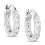 Womens and girls huggie hoop earrings