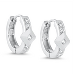 Womens and girls CZ huggie hoop earrings