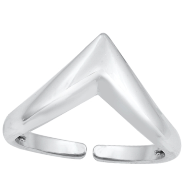Oversized triangle womens V midi ring