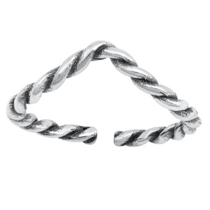 Womens cable rope ring