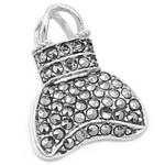 Cute as a button silver bucket purse pendant from Sterling Silver Fashion