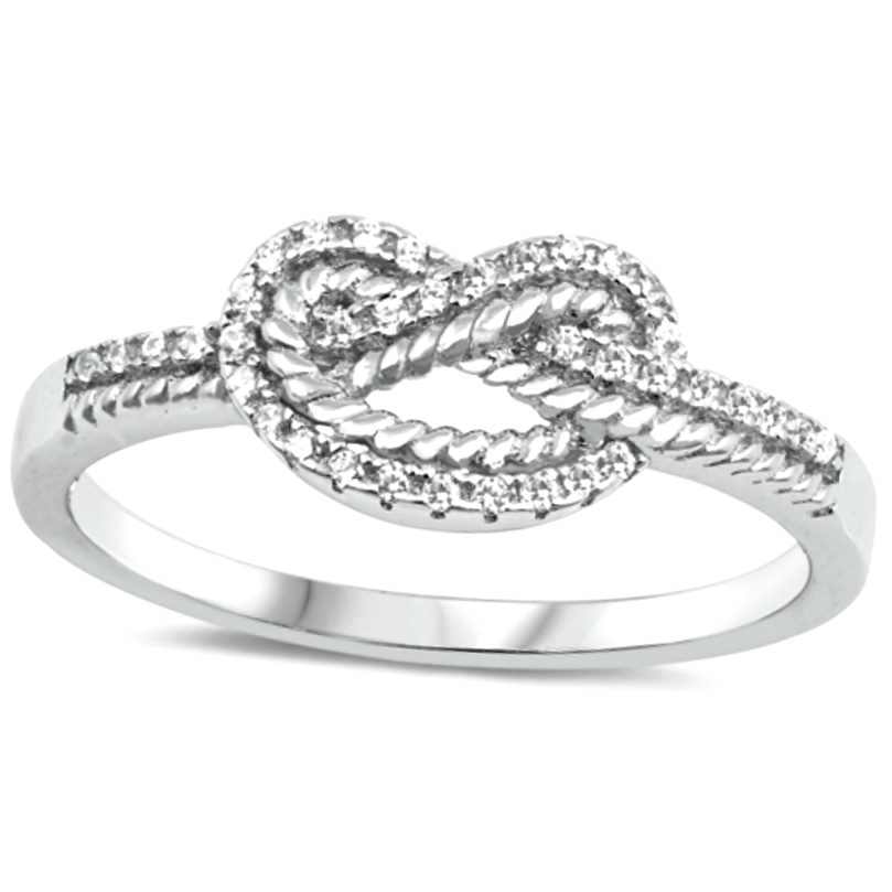 Double infinity love knot womens ring
