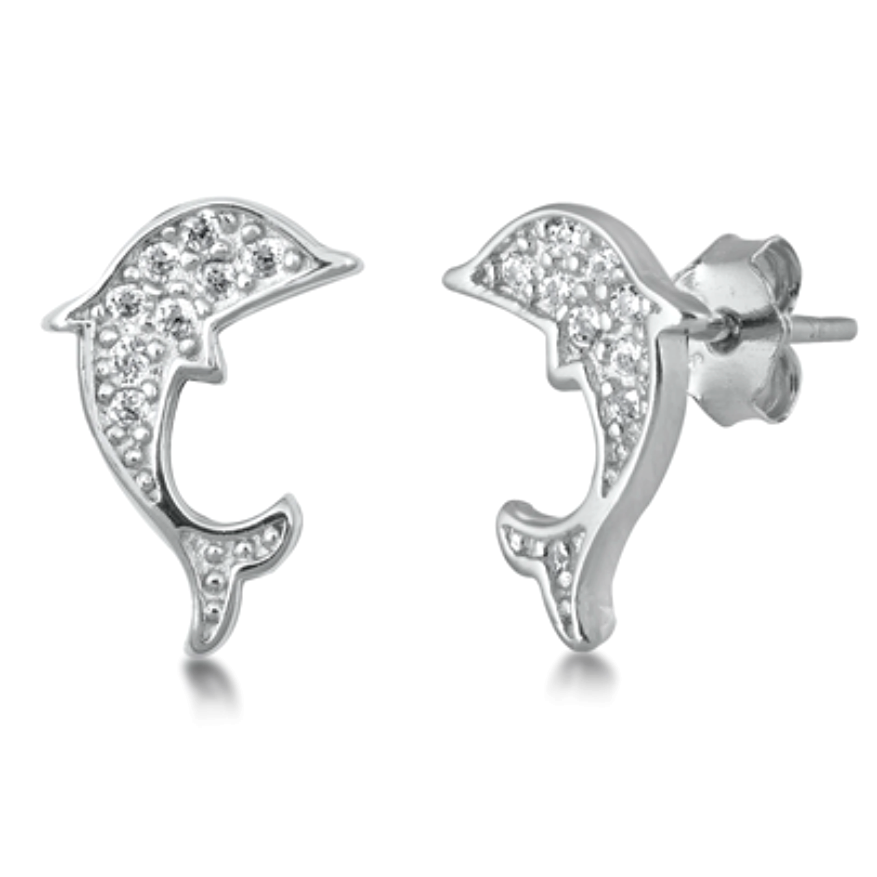 Womens and girls dolphin earrings