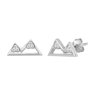Womens and kids mountain heart earrings