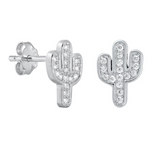 Womens and girls cactus earrings