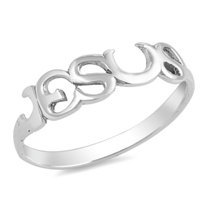 Womens and girls Jesus Christ band ring